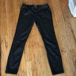 Black Lace-Like Skinny Pants